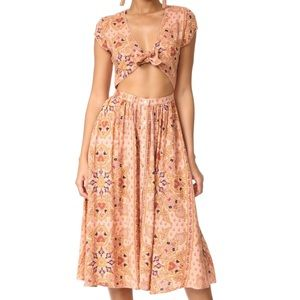 KNOT SISTERS park slope dress blush medallion S